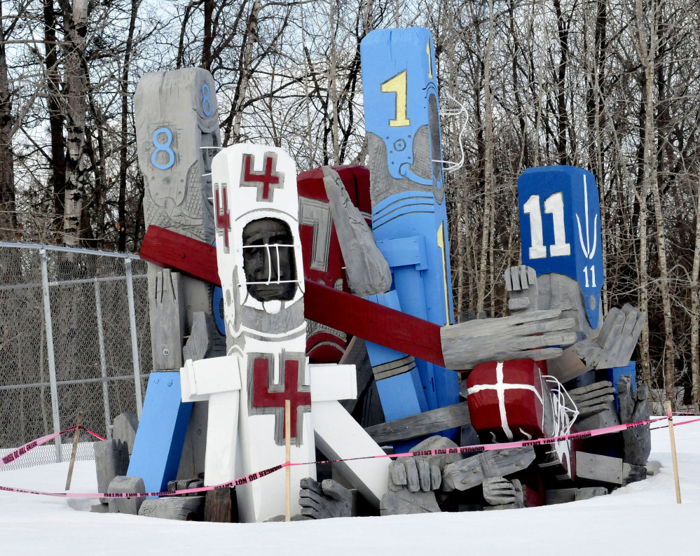 A sculpture of football players by Bernard Langlais at the Skowhegan Community Center is one of the Somerset County cultural landmarks some people might cite when asked in a new survey what images come to mind when thinking of the county.