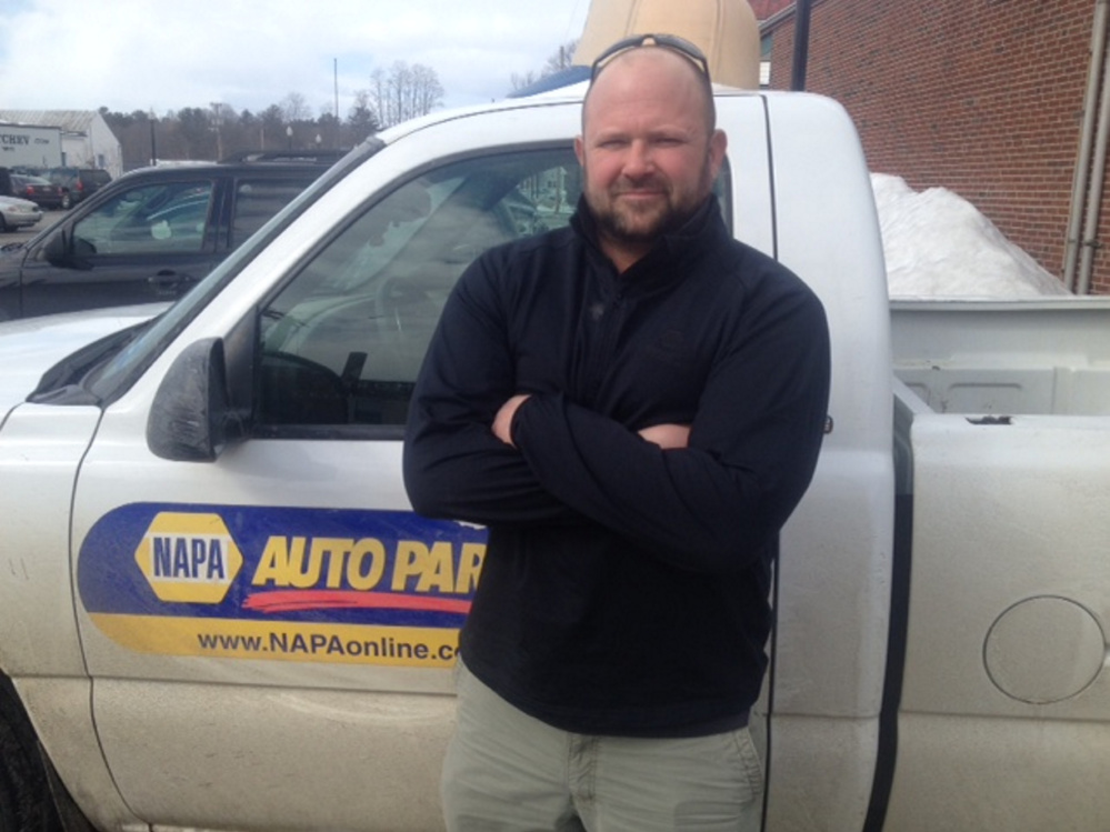 Jason Willey, a district sales manager for NAPA Auto Parts, was in Skowhegan last week to help the owner of the new store get started.