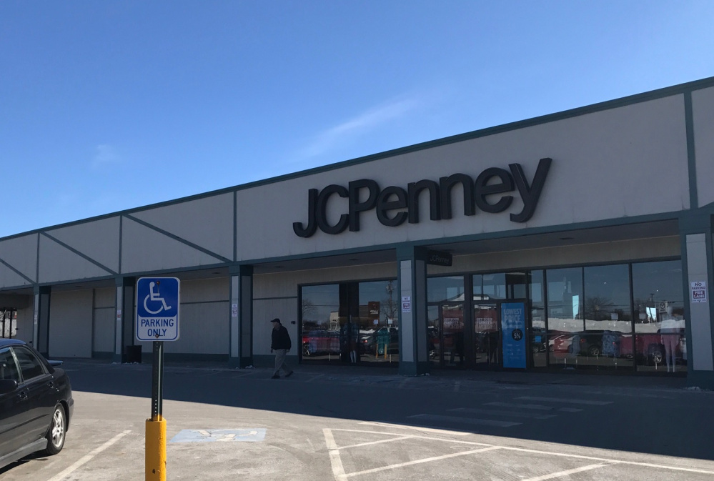 A customer exits JC Penney on Friday at the Elm Plaza in Waterville, after the company announced a list of store closures that did not include this one. The only JC Penney in Maine scheduled to close is the one in Rockland.