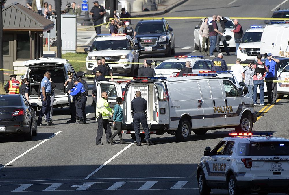 Suspect Arrested Near U.S. Capitol After Officers 'Nearly Struck' By Vehicle