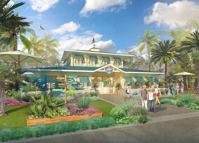 Artist's rendering of one of the  6,900 homes planned for the Latitude Margaritaville retirement community.