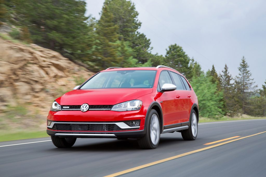 The 2017 Volkswagen Golf Alltrack.