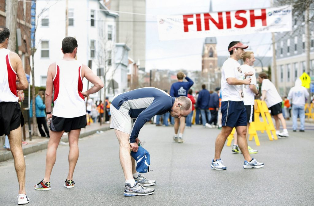 The start has moved to Ocean Gateway for the Boys and Girls Club Patriots Day races in Portland, but the finish will remain on Cumberland Avenue.