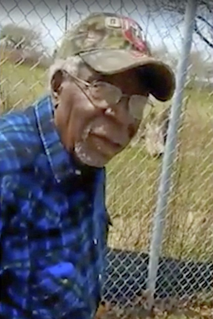 This image from video posted on Facebook shows Robert Godwin Sr. moments before being fatally shot.