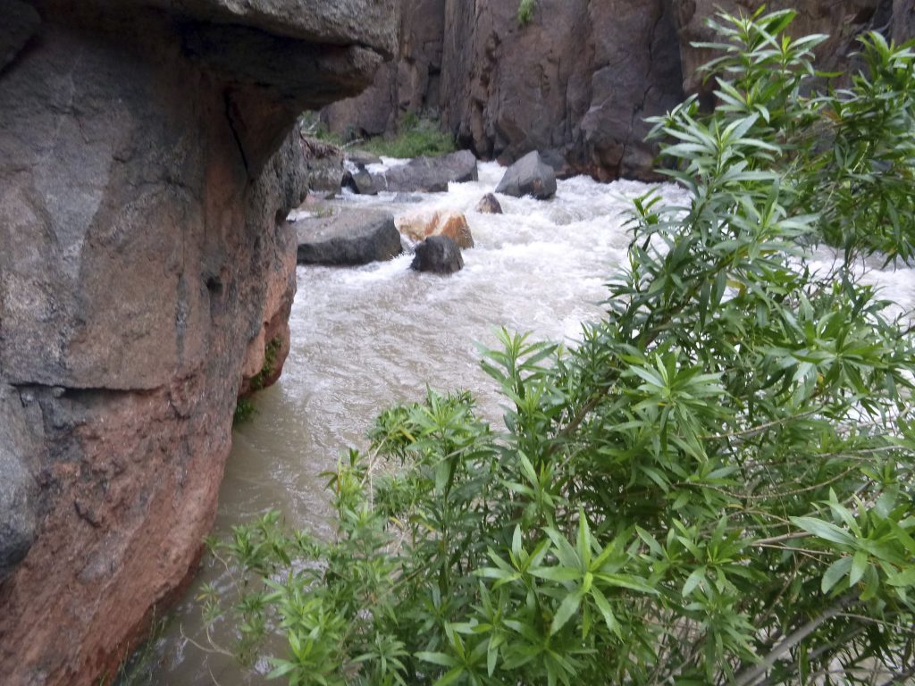 Tapeats Creek in Grand Canyon National Park, where Jackson Standefer, 14, and Lou-Ann Merrell, 62, lost their footing Saturday and fell into the water during a family trip.