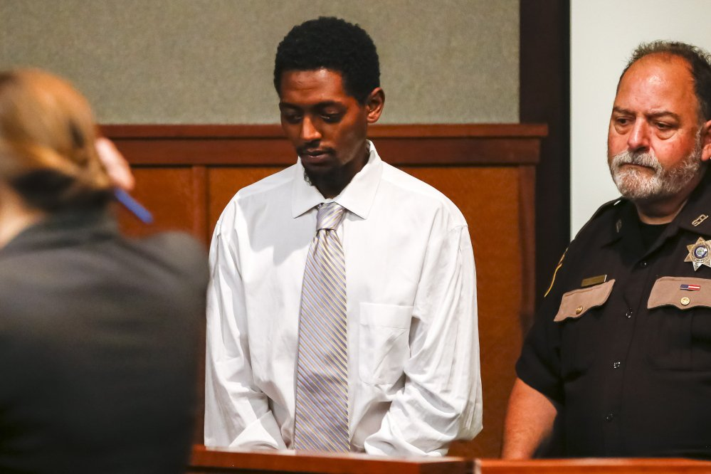 Abil Teshome of Portland, shown at an earlier court appearance, was sentenced to 12½ years in prison for the beating death of Freddy Akoa in 2015.