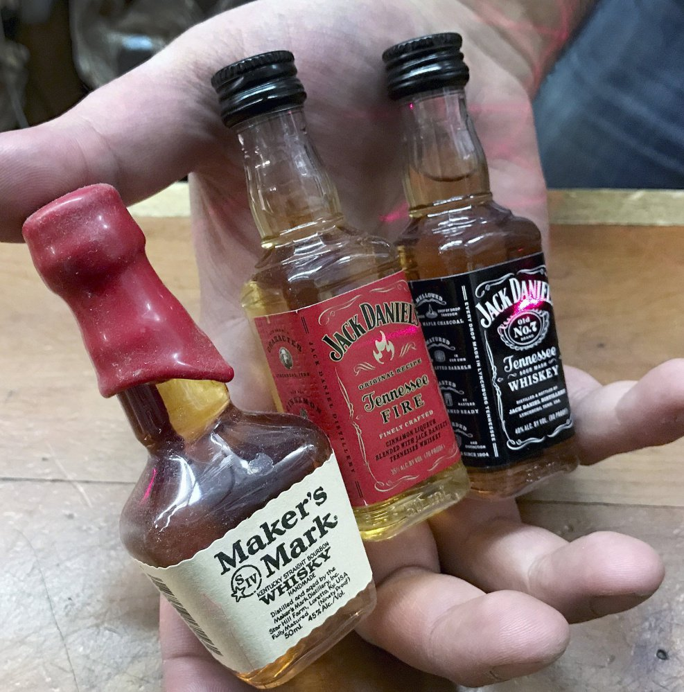 Popular miniature bottles of liquor are piling up on Maine roadsides.