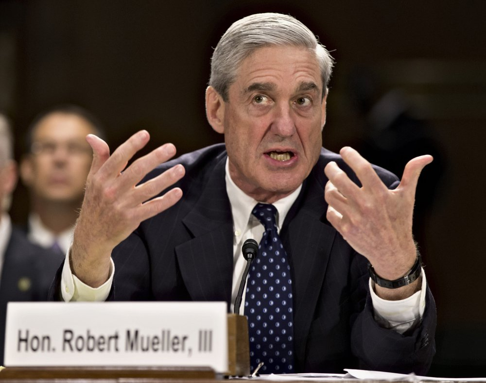 Former FBI director Robert Mueller, shown testifying on Capitol Hill in 2013, has agreed to serve as special counsel to oversee the investigation into Russian interference in the 2016 presidential election.