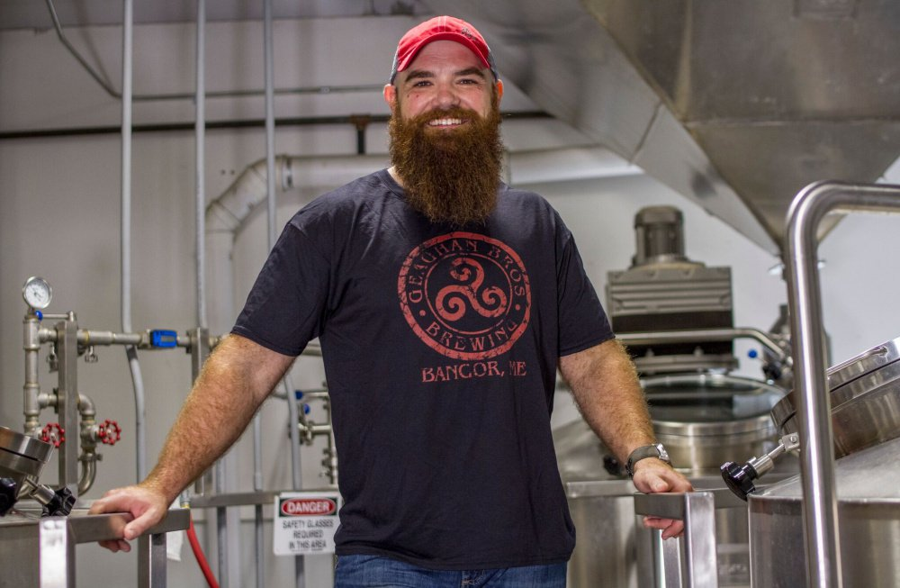 Brewmaster Andy Geaghan says Geaghan Bros. Brewing Co. in Bangor is