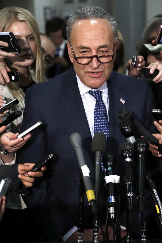 Senate Minority Leader Sen. Chuck Schumer, D-N.Y., says,