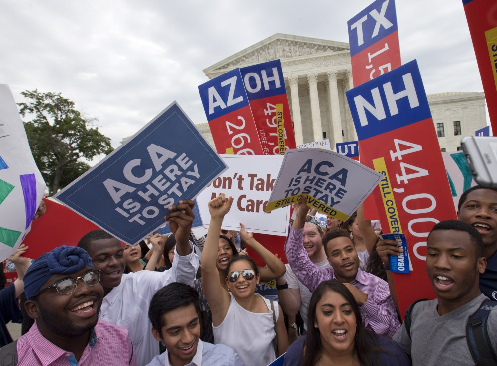 A health care rally outside the Supreme Court in 2015. A growing number of Americans age 40 and older think Medicare should cover long-term care for older adults, an Associated Press-NORC Center for Public Affairs Research poll found.