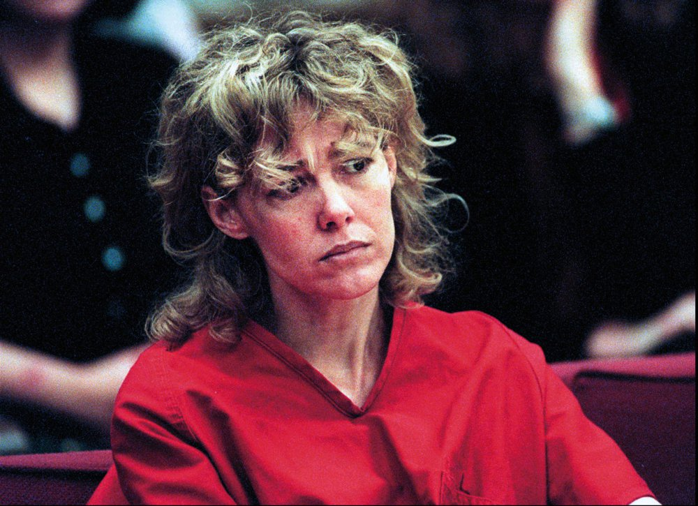 Mary Kay LeTourneau listens to testimony during a court hearing in Seattle in 1998.