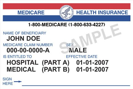Current Medicare cards, similar to the generic one at left, use Social Security numbers as the