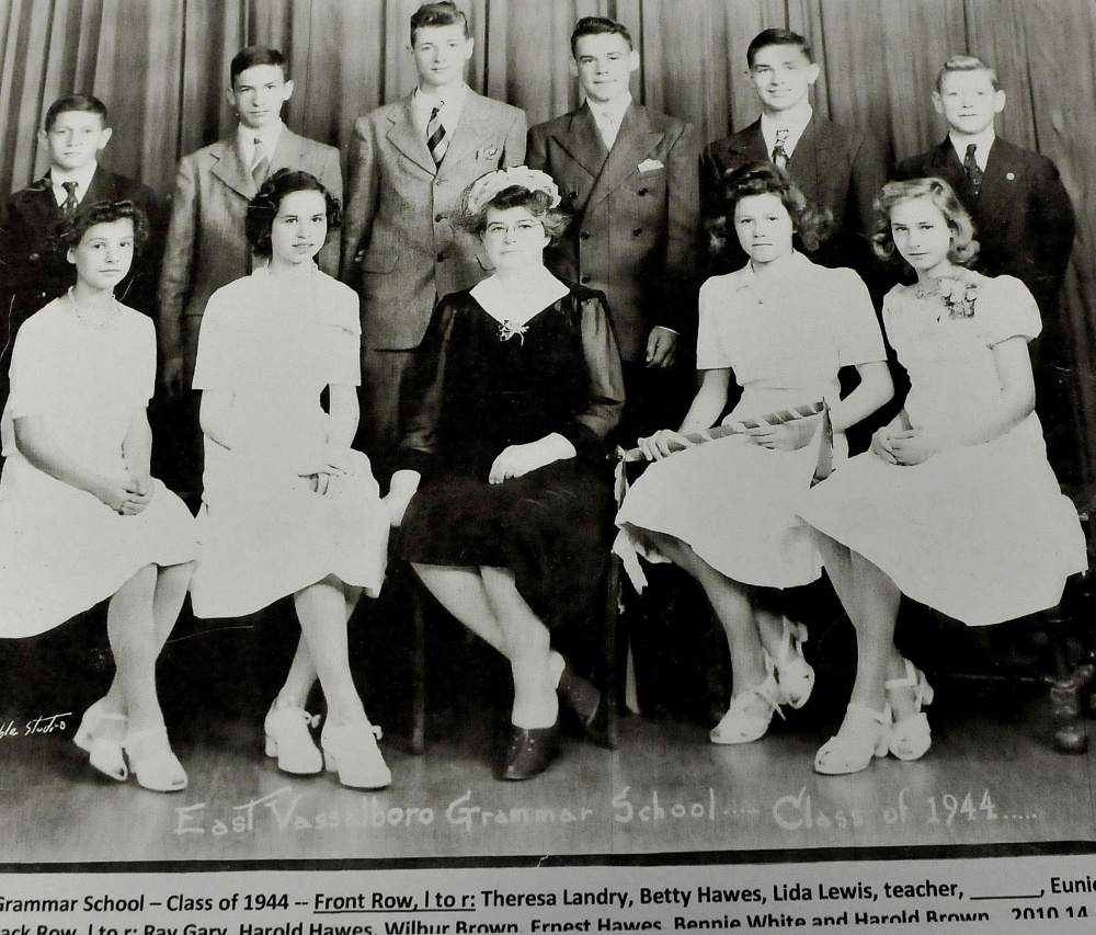 This photograph of the 1944 East Vassalboro Grammar School class will be in