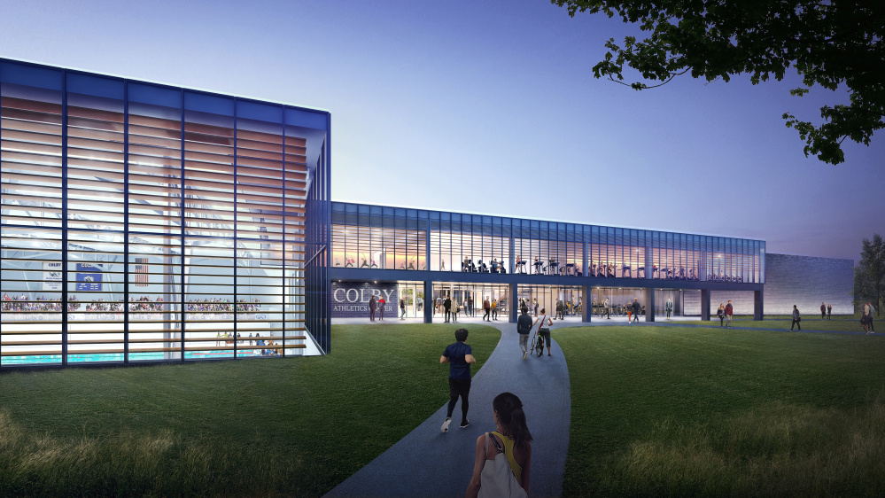 Colby College's new athletic complex is planned to be a state-of-the-art facility.