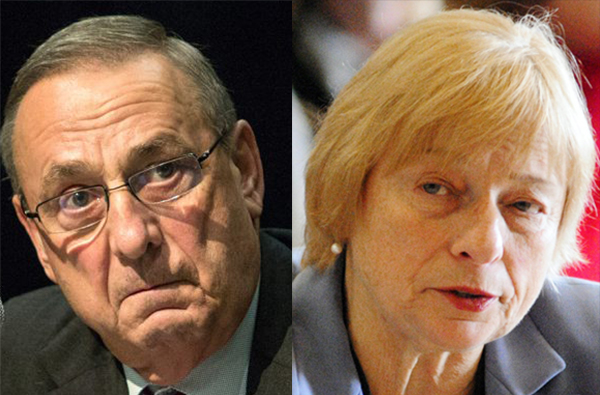 Gov. Paul LePage and Attorney General Janet Mills.