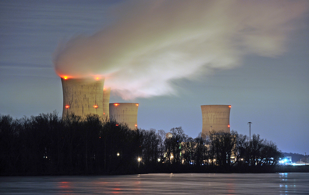 The Three Mile Island nuclear power plant is seen on the Susquehanna River in Middletown, Pennsylvania, in 2011. Only one of its two reactors is still in use.
