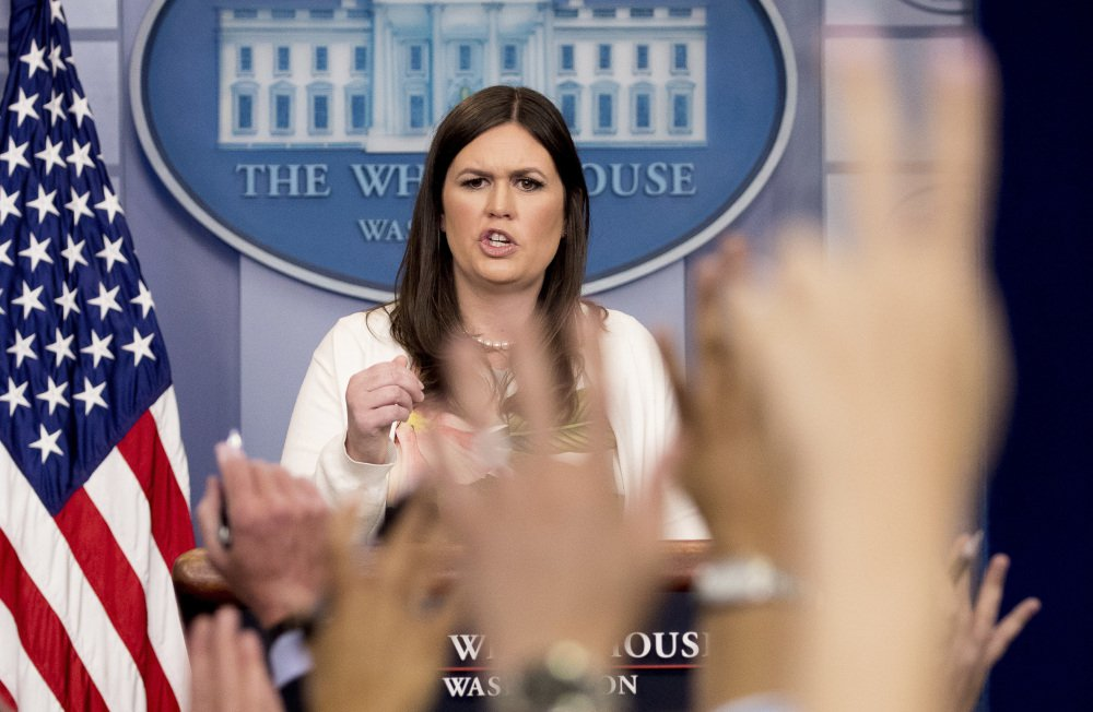 As part of the White House's efforts to regain control of its message, Sarah Huckabee Sanders is taking on a more visible role at daily media briefings instead of press secretary Sean Spicer, who has gained national celebrity for his often combative interactions with reporters.