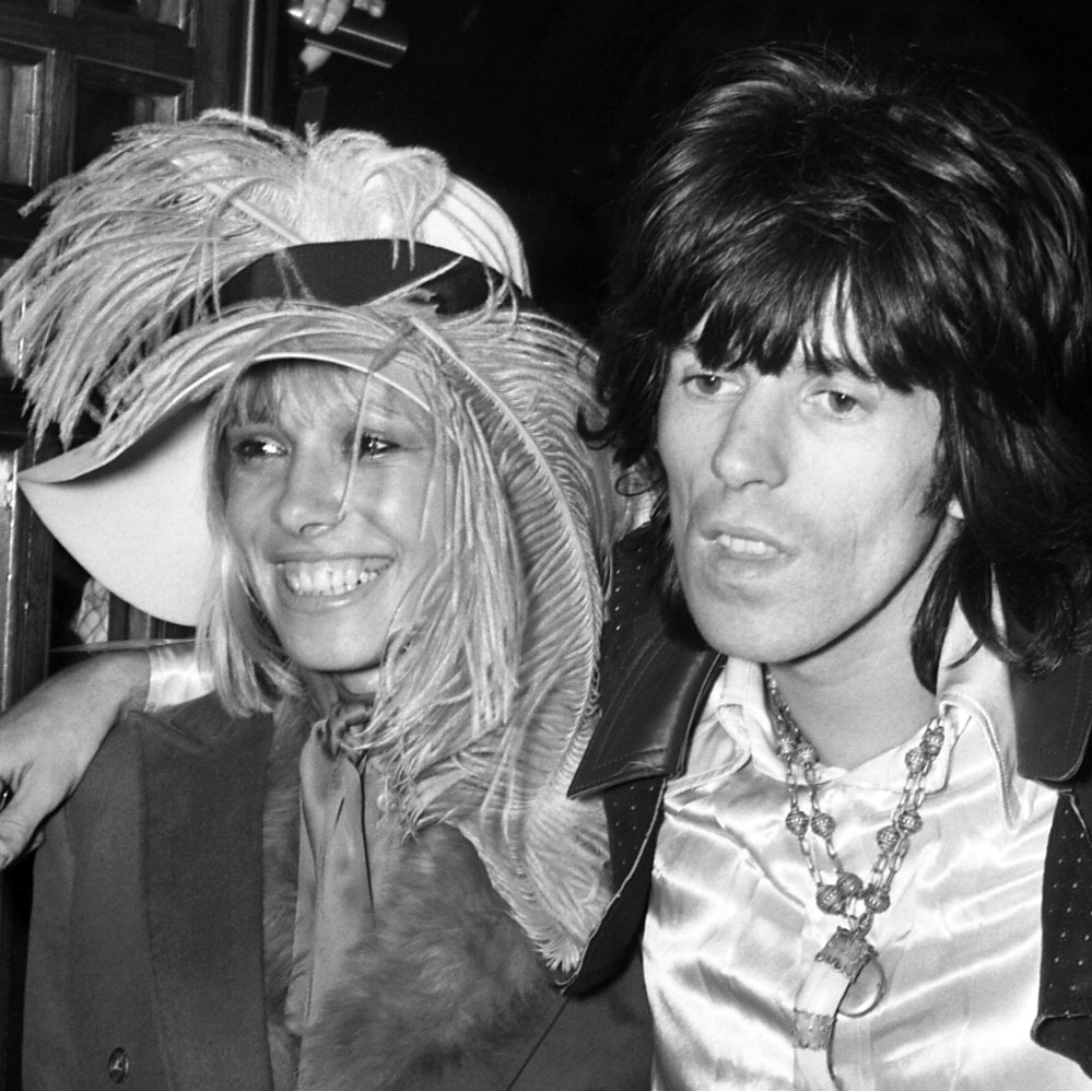 Anita Pallenberg with Keith Richards of the Rolling Stones in 1968.