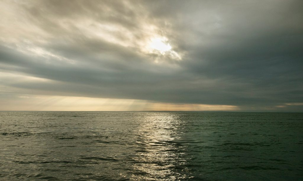 The sun shines on the waters of the Gulf of Maine near the Grand Manan Basin in the Bay of Fundy on Tuesday, September 8, 2015. On a standard map, the gulf appears to be just a part of the Atlantic Ocean but its underwater topography and its miles of jagged coastline along Maine make it one of the the most fertile areas for sustaining marine life. (Photo by Gregory Rec/Staff Photographer)