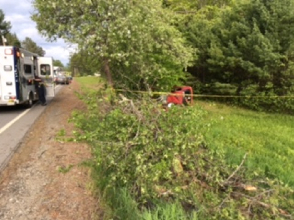 A 17-year-old Mt. Abram High School student died Thursday in a single-vehicle crash when he lost control of his red Honda and crashed into trees. He was not wearing a seat belt and was ejected partially from the car.