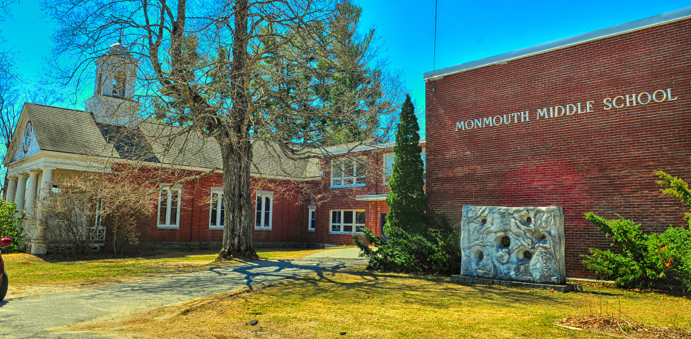 State officials could soon fund the construction of a new school in Monmouth that would replace the town's middle and elementary schools, shown in April 2016.