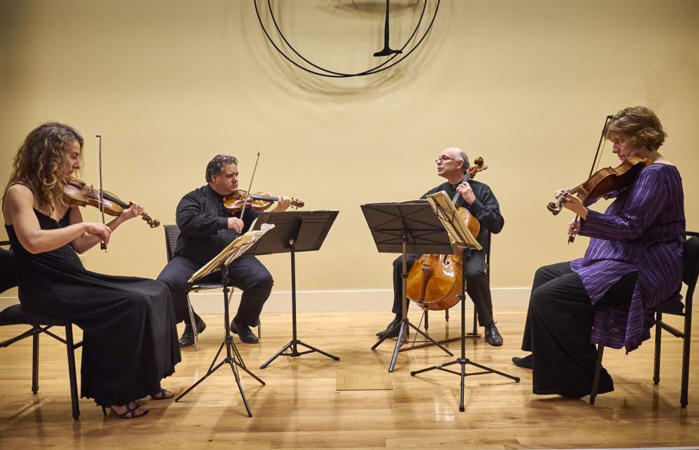 DaPonte String Quartet, from left are Lydia Forbes, Ferdinand Liva, Myles Jordan and Kirsten Monke.