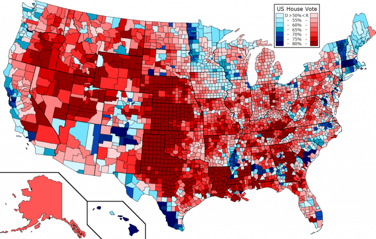 Live Map United States Presidential Election Voters Party By Electoral County Map Us