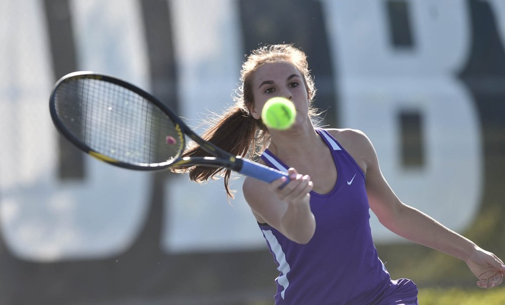 Waterville's Samantha Saulter is the Morning Sentinel Girls Tennis Player of the Year.
