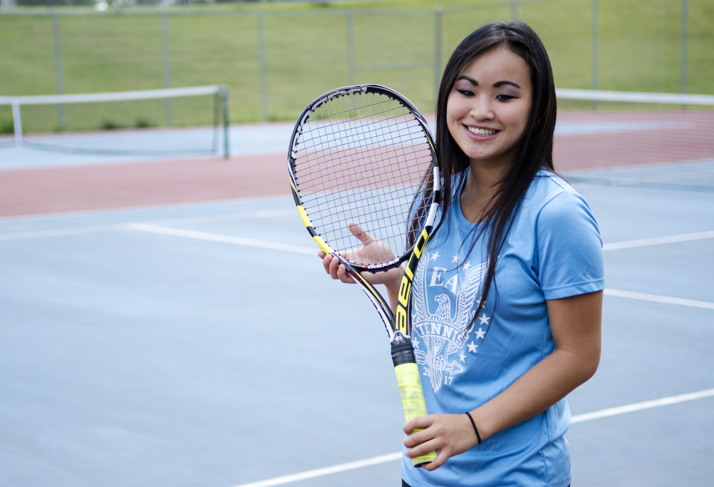 Erskine's Ellie Hodgkin is the Kennebec Journal Girls Tennis Player of the Year.