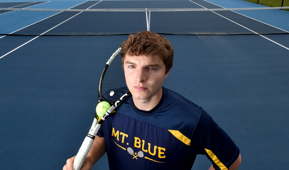 Mt. Blue's Tom Marshall is the Morning Sentinel Boys Tennis Player of the Year.