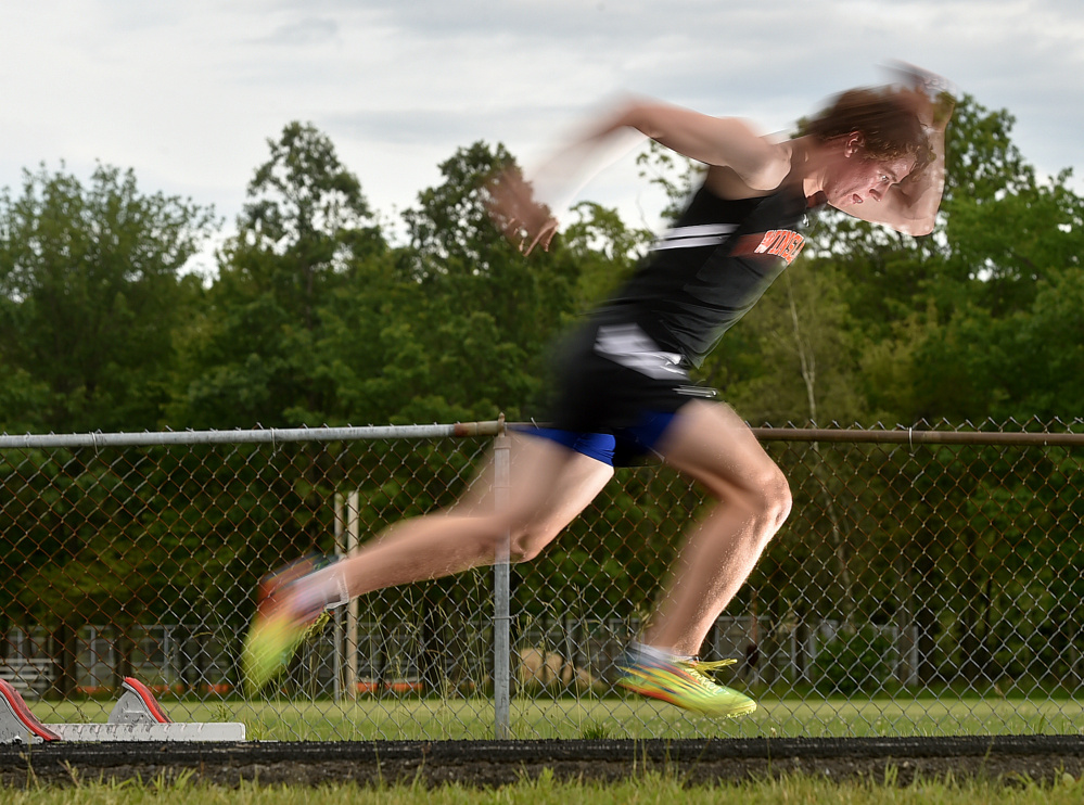 Winslow High School senior Ben Smith is the Morning Sentinel Boys Track and Field Athlete of the Year.