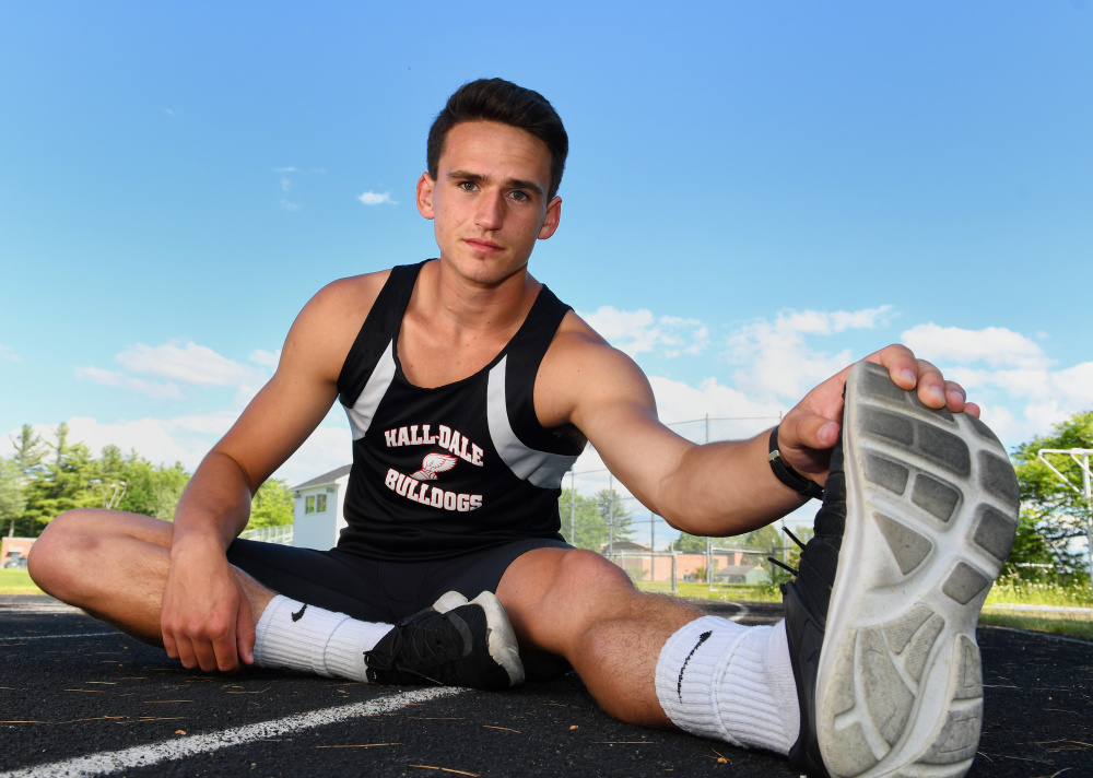 Hall-Dale's Jon Whitcomb is the Kennebec Journal Boys Track and Field Athlete of the Year.