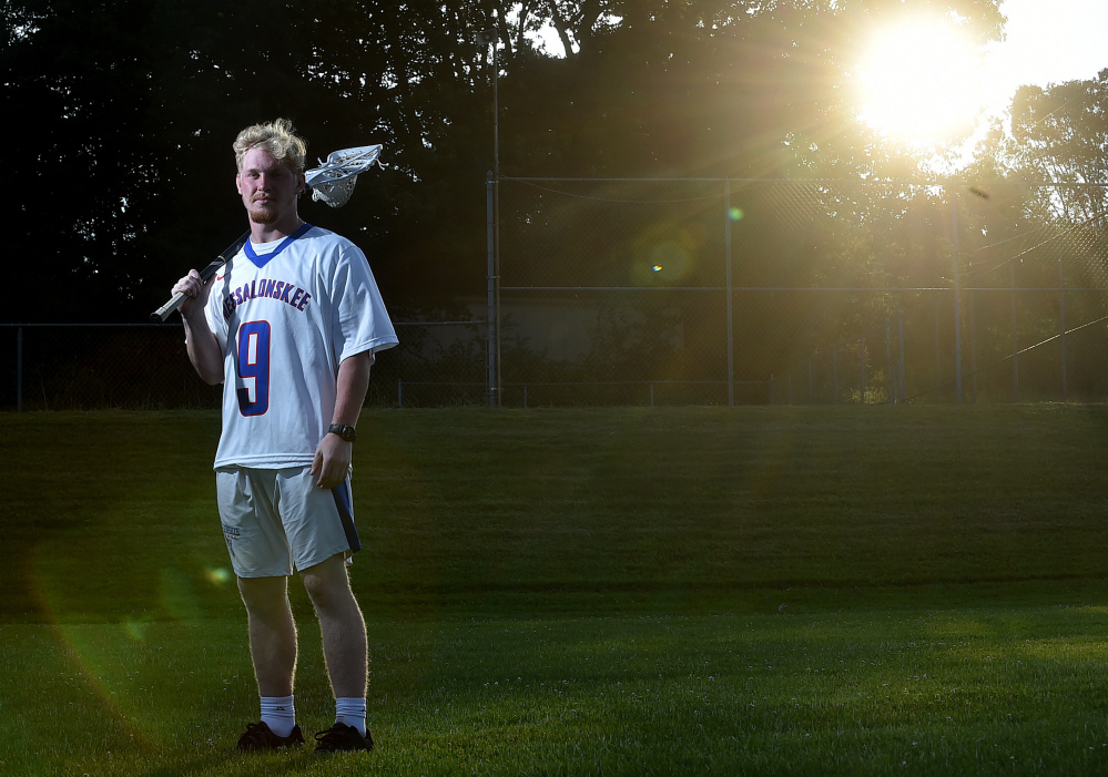 Messalonskee's Austin Pelletier is the 2017 Morning Sentinel Boys Lacrosse Player of the Year.