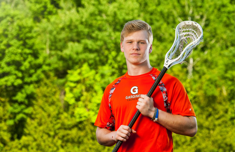 Sloan Berthiaume of Gardiner High School is the Kennebec Journal Boys Lacrosse Player of the Year.