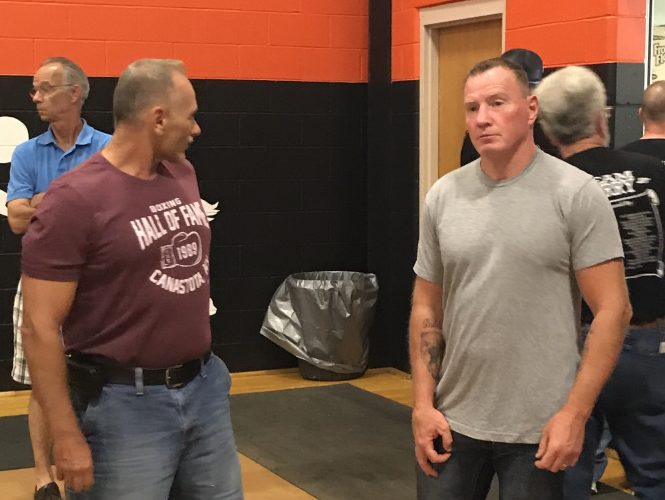 Micky Ward was on hand for a meet and greet with fans before a boxing card in Skowhegan.