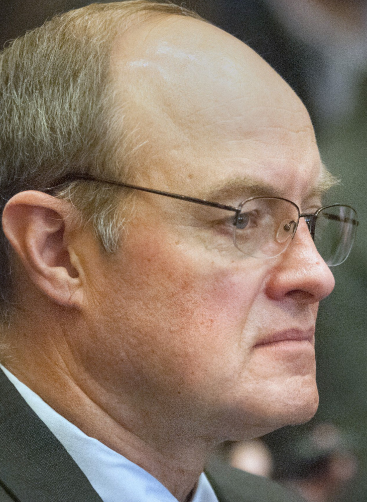 Assistant Senate Majority Leader Andre Cushing, seen at a Senate Ethics Committee meeting in October, has denied any wrongdoing.