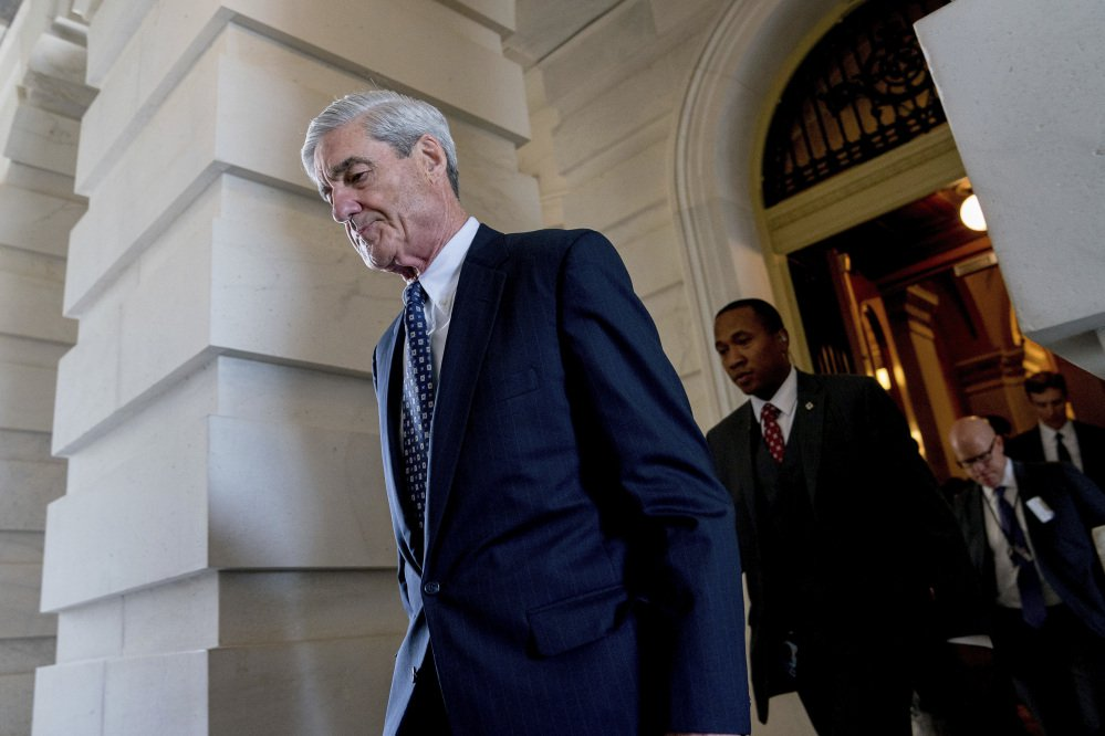 Former FBI Director Robert Mueller, the special counsel probing Russian interference in the 2016 election, departs Capitol Hill following a closed door meeting in Washington in June. A grand jury used by Mueller has heard secret testimony from a Russian-American lobbyist who attended a June 2016 meeting with President Donald Trump's eldest son, The Associated Press has learned.