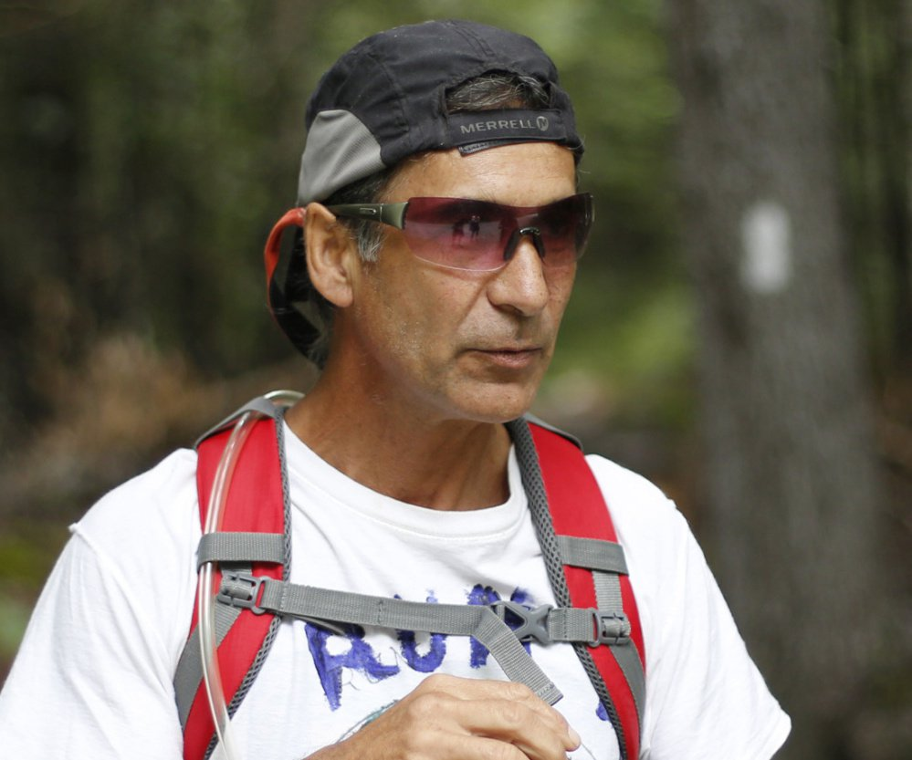 Barry Dana averaged 32 miles per day as he hiked the Appalachian Trail from Mount Washington to the base of Mount Katahdin.