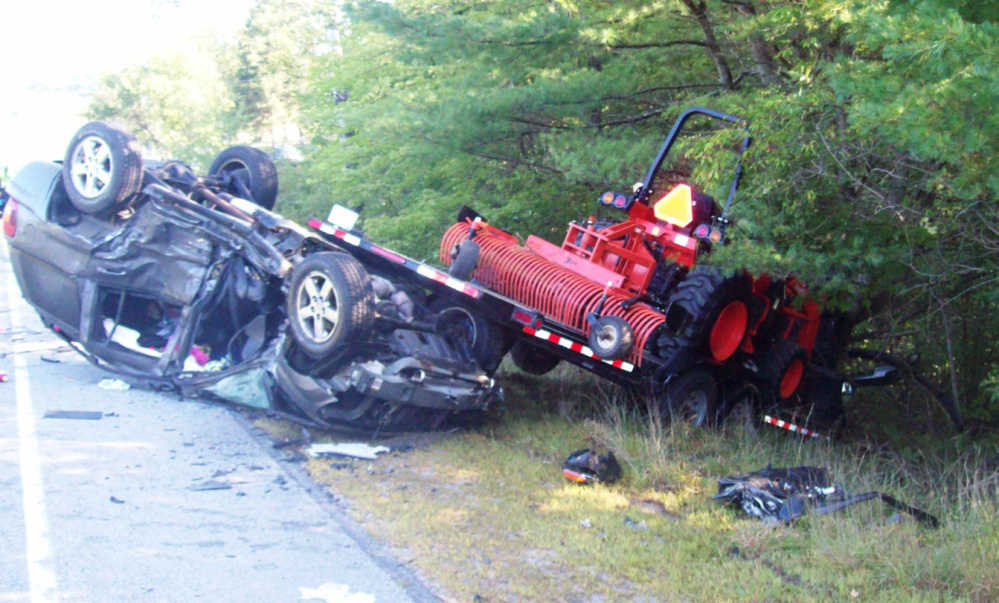 Tabytha Hembree, 16, of Pittston, died after this Thursday morning accident on Route 27, and her brother, Alex, 12, was injured but is expected to recover.