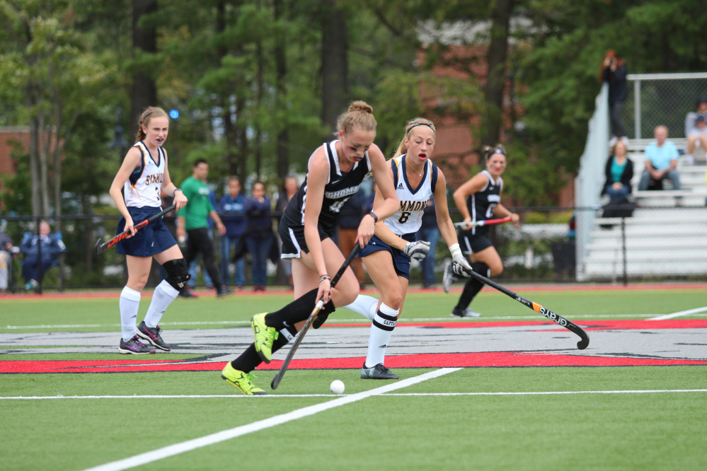 Thomas midfielder Katie Taylor heads down the field during a game Sept. 3 against Simmons.