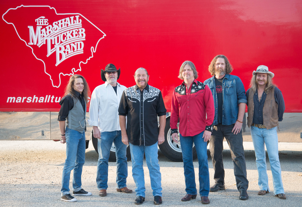 Contributed photo The Marshall Tucker Band, from left are B.B. Borden, Rick Willis, Doug Gray, Marcus Henderson, Tony Black (bass player) and Chris Hicks.