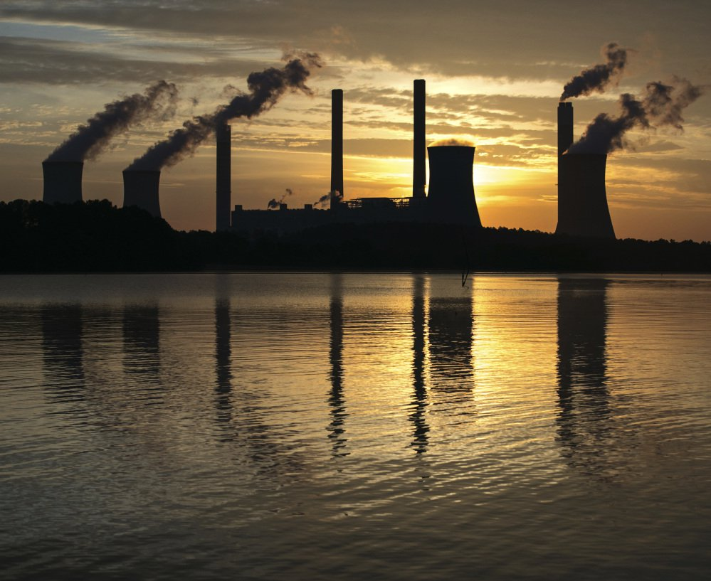 Plant Scherer, one of the nation's top carbon dioxide emitters, stands in Juliette, Ga. The Trump administration aims to roll back efforts to slow global warming,