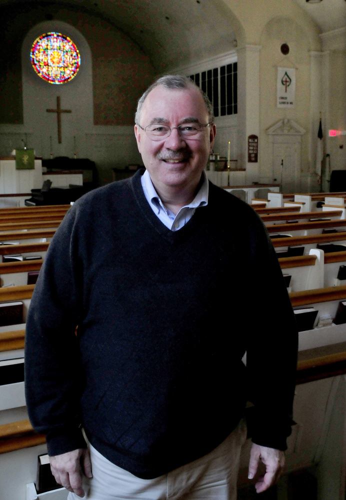 The Rev. Thomas Blackstone of the Pleasant Street Methodist Church in Waterville has been recognized for his preaching, calling it