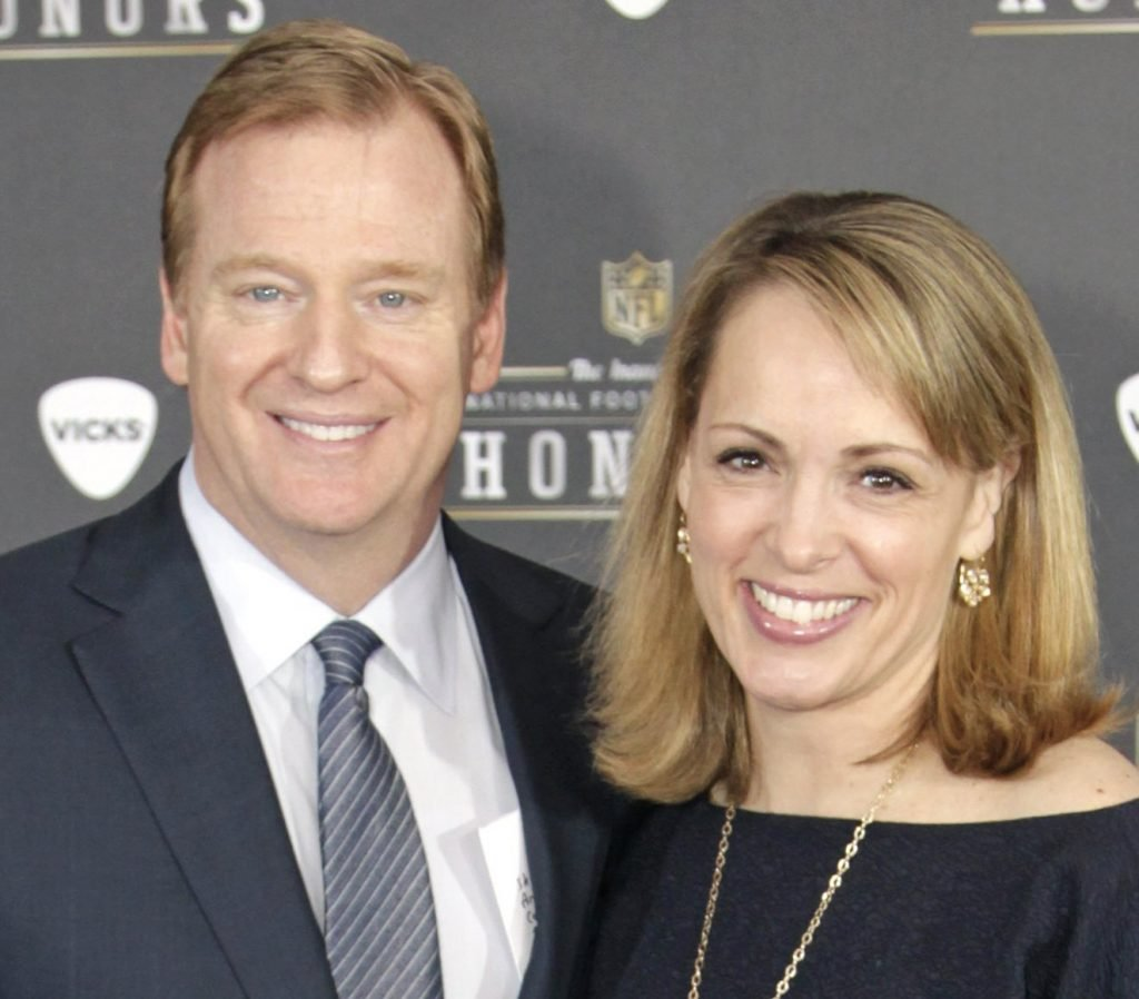 Roger Goodell's critics have been getting blowback on social media from ... his wife.