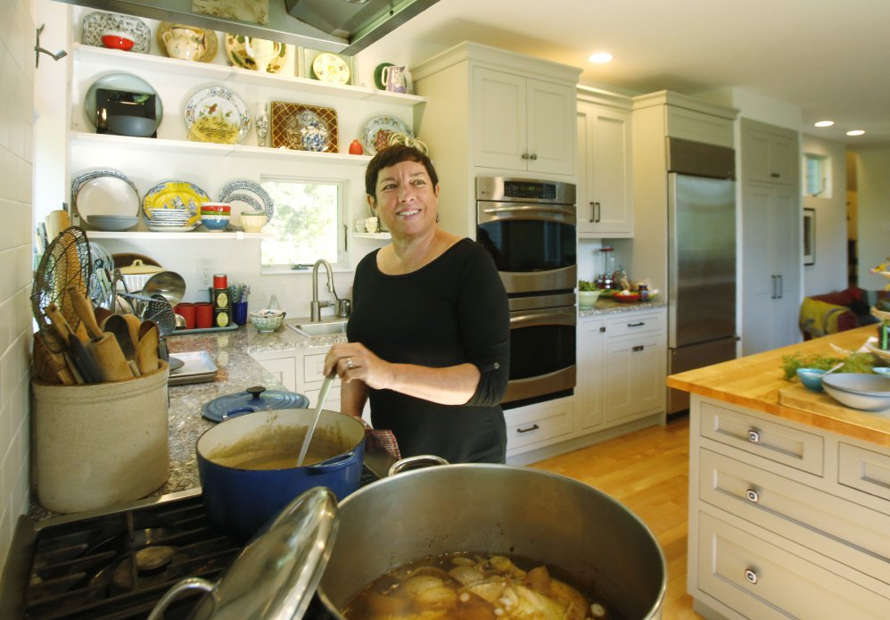 Food writer Kathy Gunst in the kitchen of her South Berwick home in 2016. Many families have holiday staples that are not to be tinkered with – for Gunst, it's her cranberry sauce.