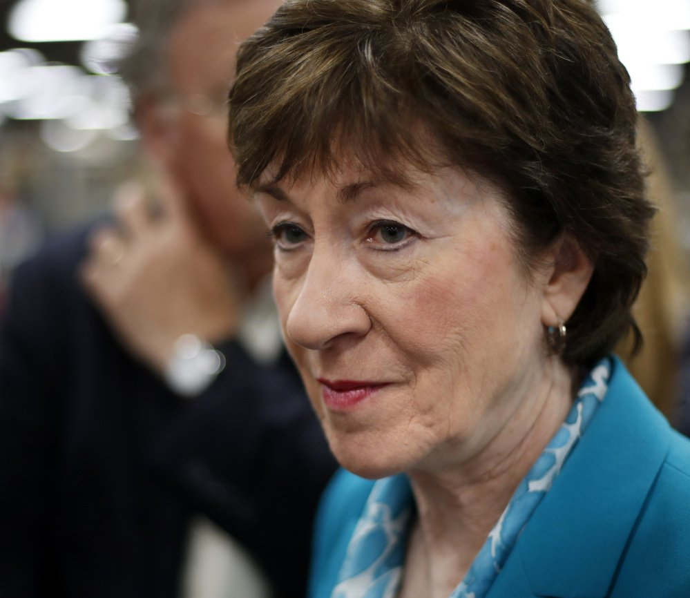 Sen. Susan Collins criticized a provision in the tax reform bill to repeal the ACA individual mandate, but didn't say she would vote