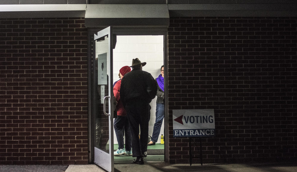 Voters head to the polls Tuesday to select a mayor at Thomas College in Waterville.