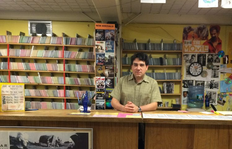 Bart D'Alauro mans the desk at Bart & Greg's DVD Explosion in Brunswick in 2015.