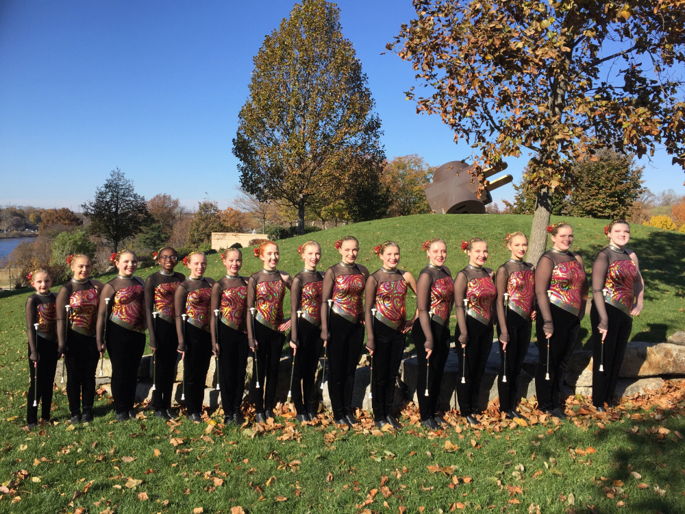 The Main-E-Acts Baton Twirling Team, from left, are Morgan Mayhew, of South Paris; Makenzie Sayers, of Brewer; Cassidy Fish, of Hampden; Megan McCormick, of South Paris; Jessica Hymas, of Brewer; Ingrid Plant, Hampden; Mollie Berglund, of West Gardiner; Lindsay Pitts, of Bucksport; Paige Blackwell, of Bangor; Alanna Thomas, of Hampden; Amanda Cameron, of West Gardiner; Helen Rebar, of Bangor; Grace Thompson, of Kenduskeag; Autumn Trafton, of Augusta; and Embree Thomas, of Hampden.